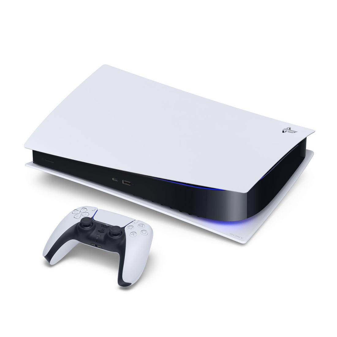 تصویر کنسول PS5 سفید