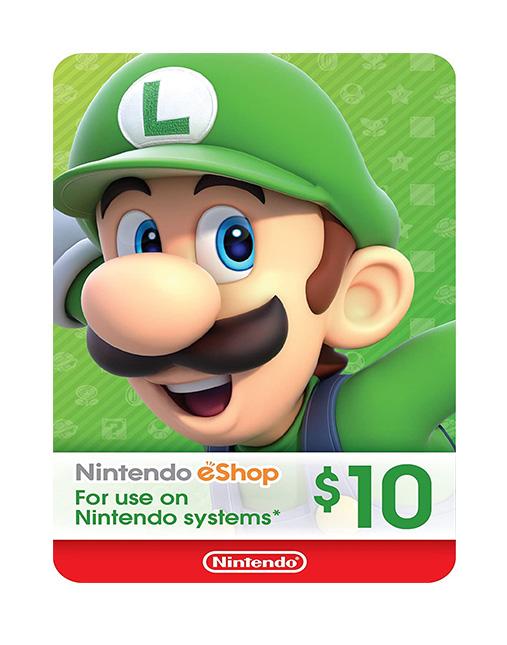 خرید گیفت کارت 10 دلاری نینتندو ( Nintendo eShop)