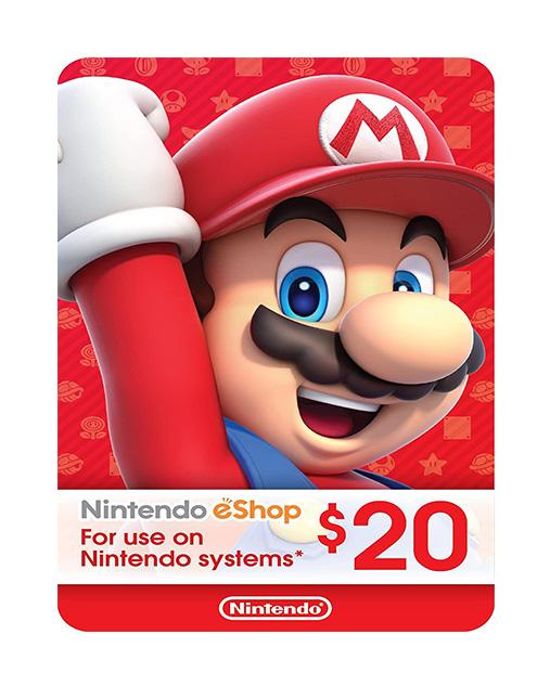 خرید گیفت کارت 20 دلاری نینتندو ( Nintendo eShop)