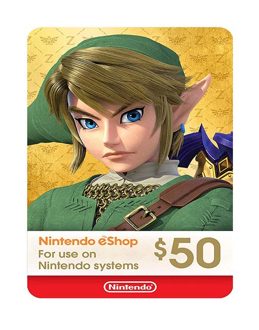 خرید گیفت کارت 50 دلاری نینتندو ( Nintendo eShop)