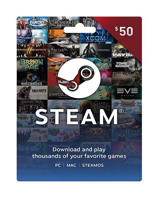 خرید گیفت کارت 50 دلاری استیم ( Steam )