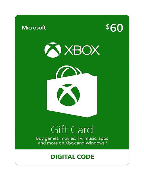 خرید گیفت کارت 60 دلاری ایکس باکس ( Xbox )