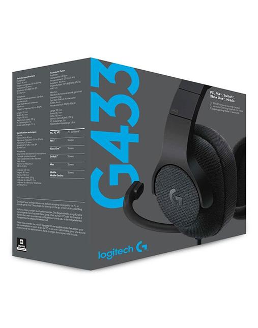خرید هدست گیمینگ لاجیتک LOGITECH G433 box