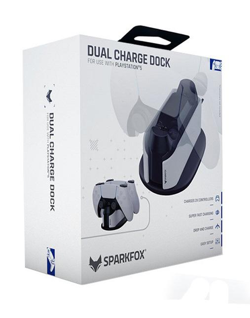 خرید پایه شارژر دوگانه SparkFox برای PS5